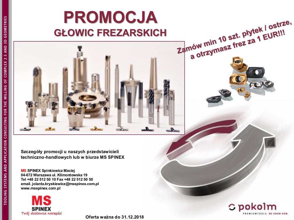 promocja glowic frezarskich